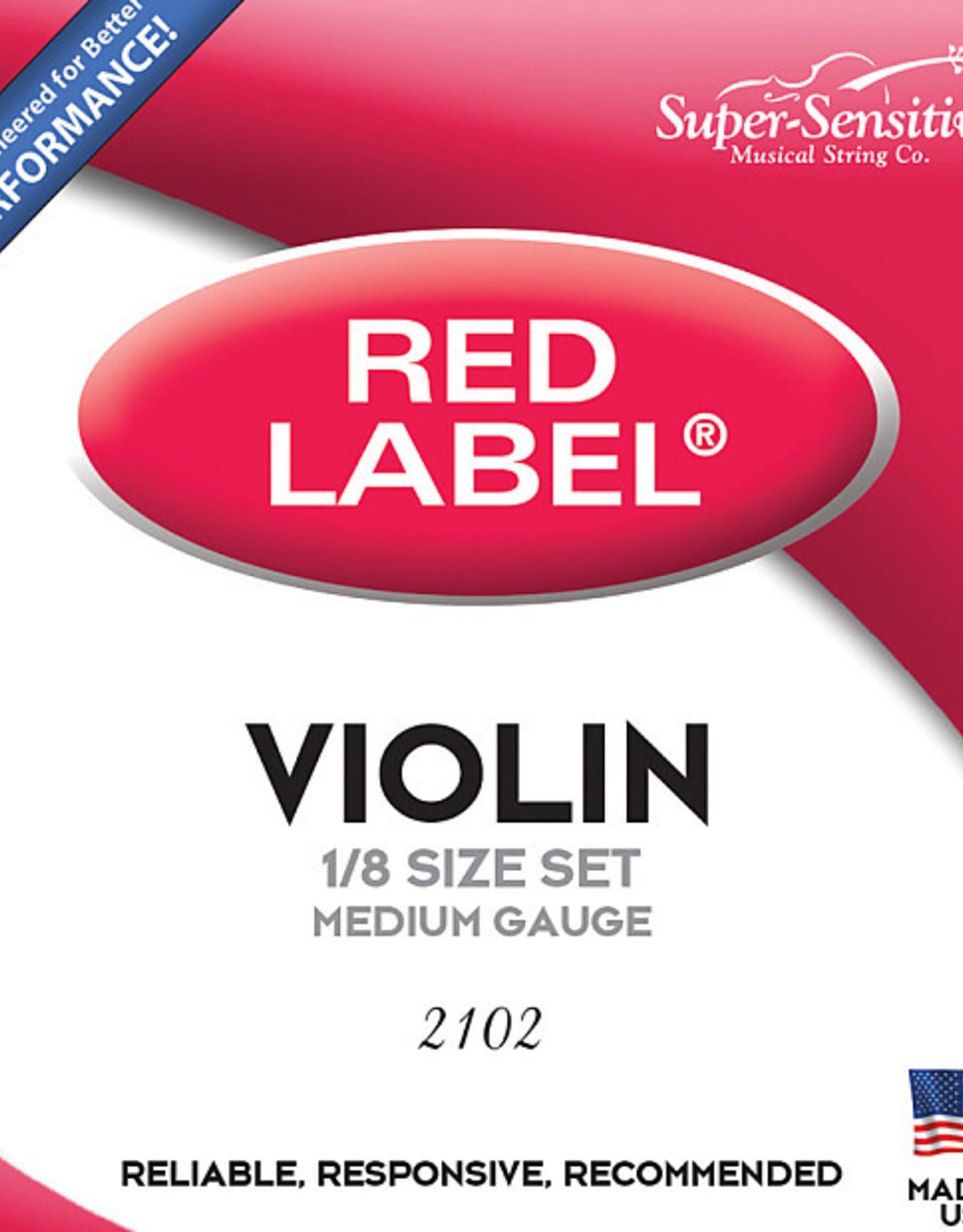 Supersensitive VIOLIN SUPER-SENSITIVE RED LABEL SET 3/4 ORCH