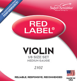Supersensitive Super Sensitive Violin Strings, Red Label Set 3/4 Orch