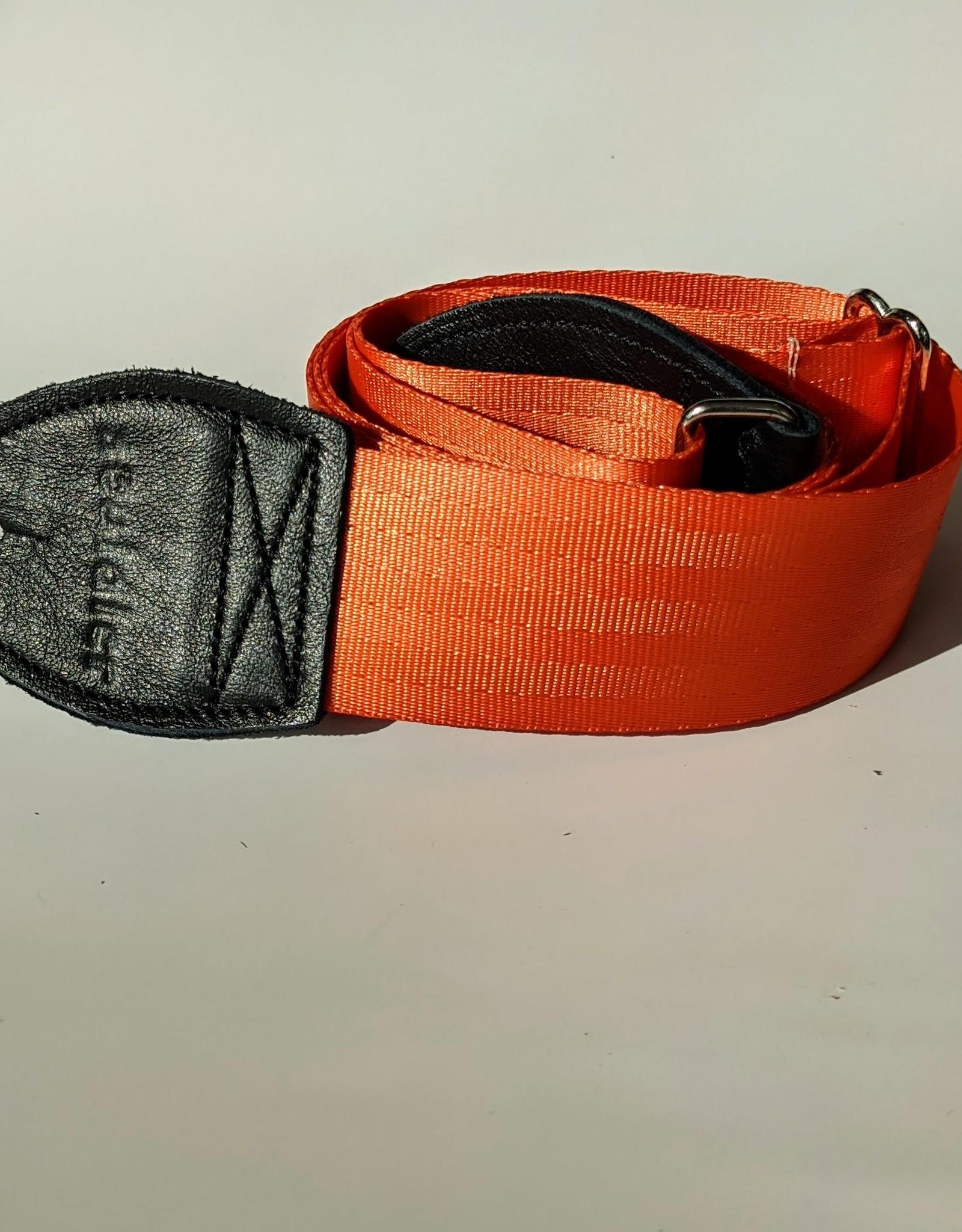 Souldier Souldier Plain Orange Seat Belt Guitar Strap
