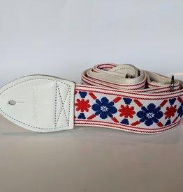 Souldier Souldier Tulip Cream Clapton Fool, Vintage Fabric Guitar Strap