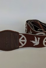 Souldier Souldier Peace Dove Brown, Vintage Fabric Guitar Strap
