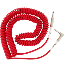 Fender Fender Original Series Coil Cable, Straight-Angle, 30', Fiesta Red