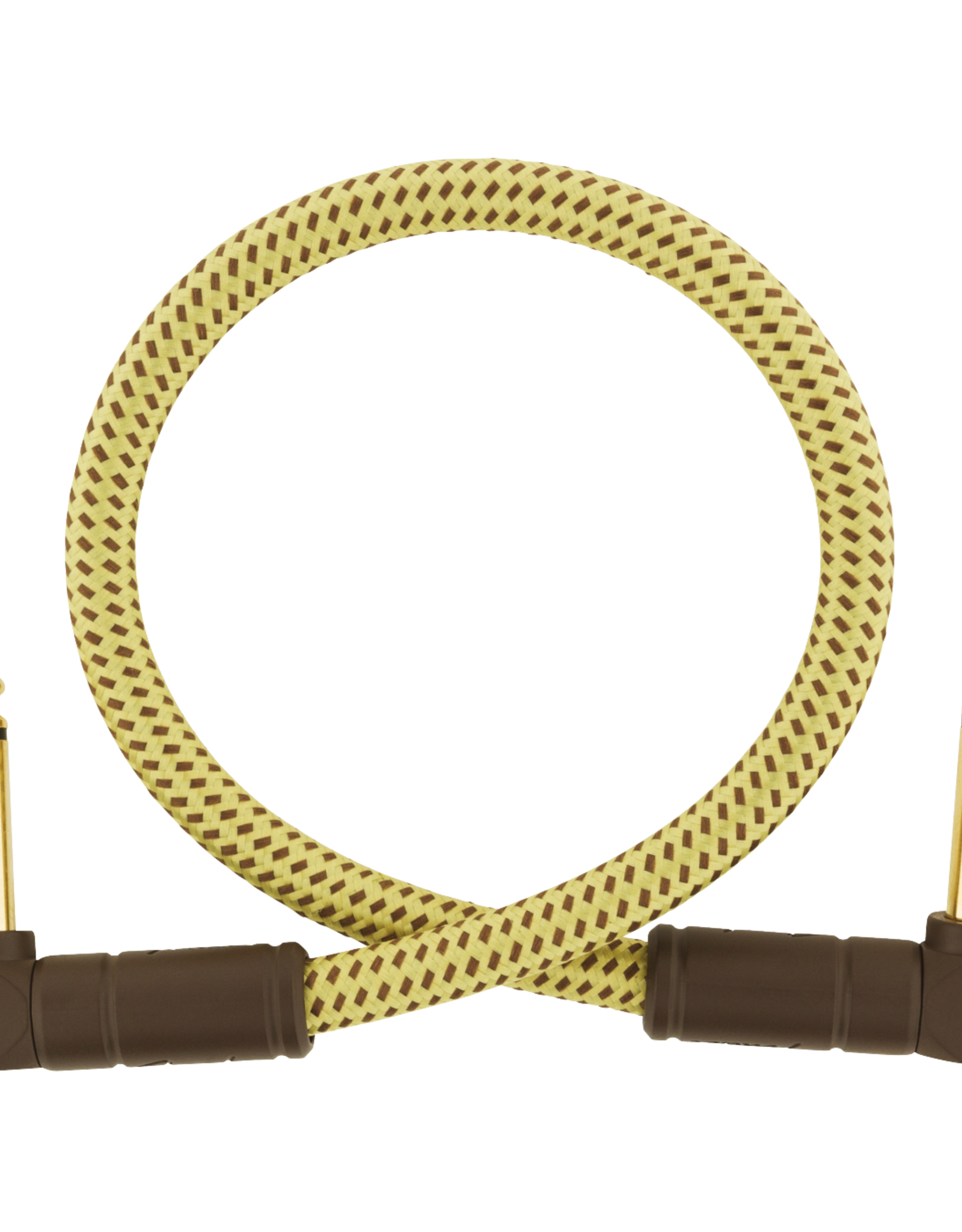 Fender Fender Deluxe Series Instrument Cable, Angle/Angle, 1', Tweed