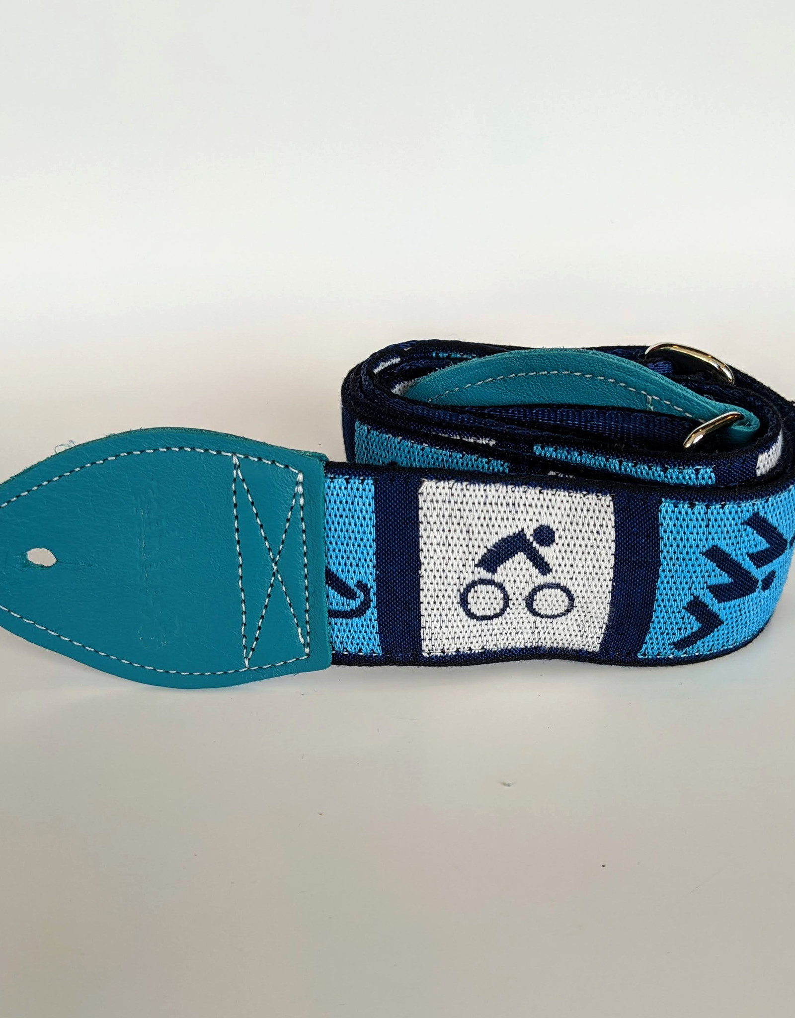 Souldier Souldier Triathlon Turquiose/White/Blue, Vintage Fabric Guitar Strap