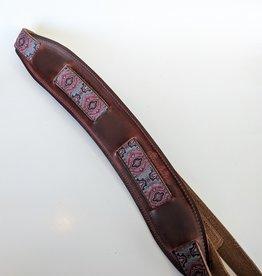 Souldier Souldier Jaipur Burgandy/Charcoal Leather Saddle Strap