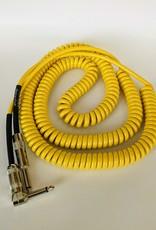 """Lava Lava """"Retro Coil"""" Instrument Cable - 20' Straight to Right (Yellow))"""