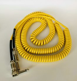 "Lava Lava ""Retro Coil"" Instrument Cable - 20' Straight to Right (Yellow))"