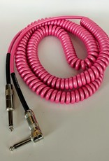 """Lava Lava """"Retro Coil"""" Instrument Cable - 20' Straight to Right (Hot Pink)"""