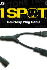"""Truetone 1 Spot Courtesy Plug IEC 1"""" Cable"""