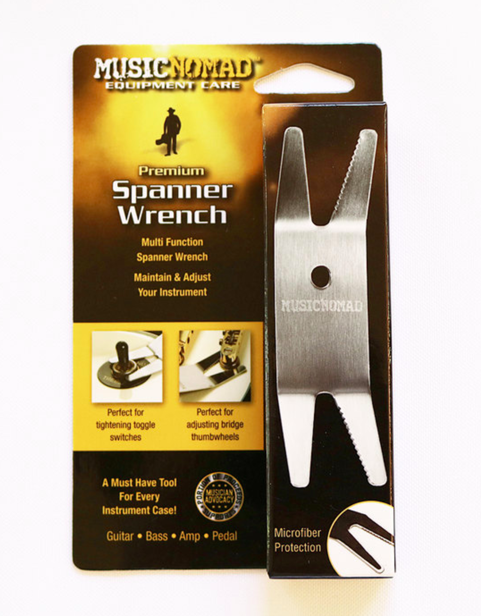 MUSIC NOMAD Music Nomad Premier Spanner Wrench w/Microfiber Suede Backing