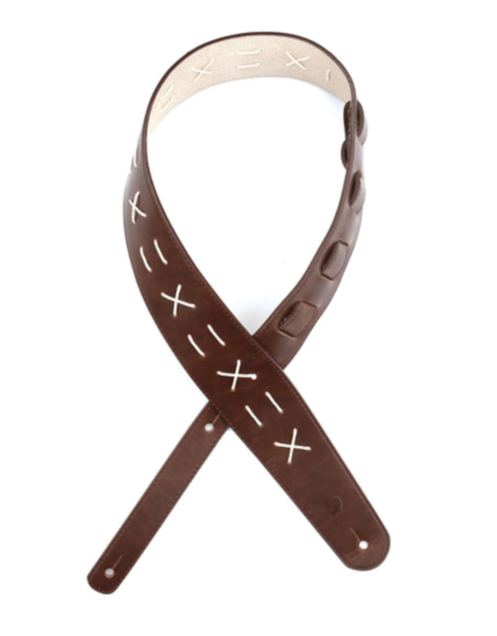 D'Addario D'Addario Leather Guitar Strap, Decorative Stitch