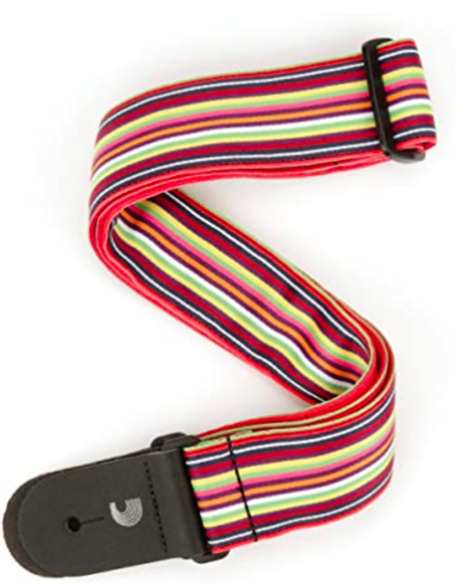 D'Addario D'Addario Woven Latin Line Art Guitar Strap, Multi Colored