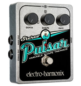 Electro-Harmonix EHX Stereo Pulsar Variable Shape Analog Tremolo Battery included, 9.6DC-200 PSU optional