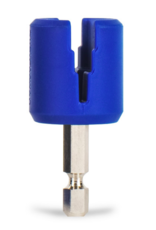 """MUSIC NOMAD GRIP Bit - Rubber Lined Drill Bit Pegwinder for Cordless Screwdriver 2"""" x 1"""""""