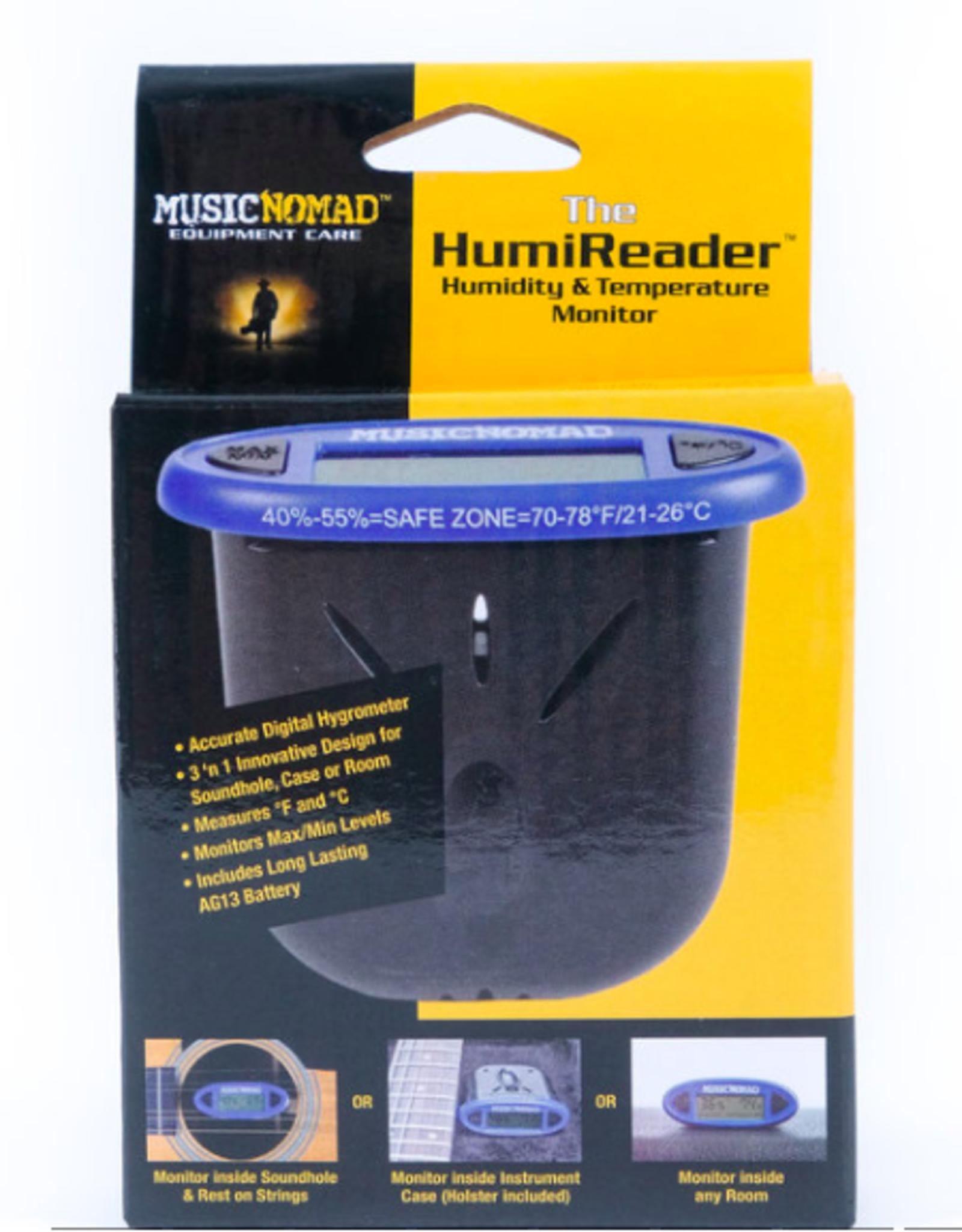 MUSIC NOMAD The HumiReader - Humidity & Temperature Monitor