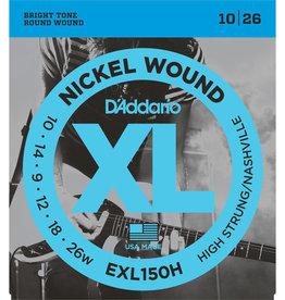 D'Addario D'Addario Nickel Wound, High-Strung/Nashville Tuning, 10-26