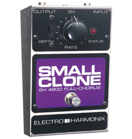 Electro-Harmonix EHX Small Clone Analog Chorus - Battery included, 9DC-100 PSU optional