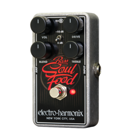 Electro-Harmonix EHX Bass Soul Food Transparent Overdrive, 9.6DC-200 PSU included