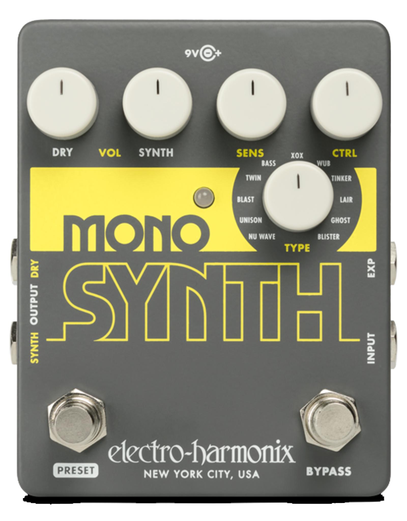 Electro-Harmonix EHX MONO SYNTH Guitar, 9.6DC-200 PSU Included