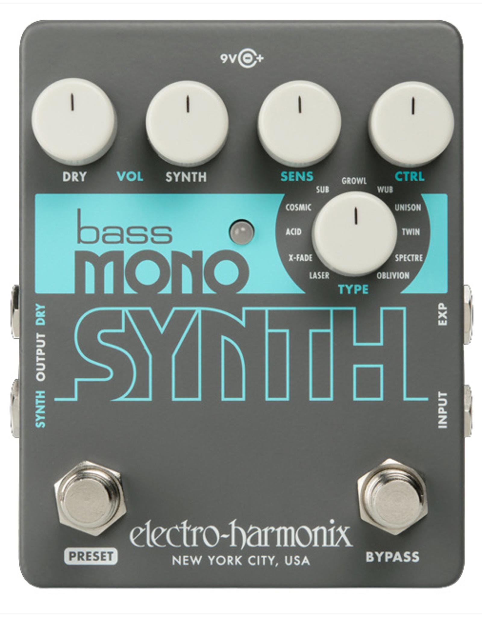Electro-Harmonix EHX BASS MONO SYNTH, 9.6 DC-200 PSU Included