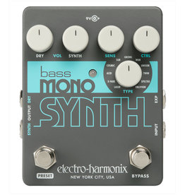 Electro-Harmonix EHX Bass Mono Synth, 9.6 DC-200 PSU Included
