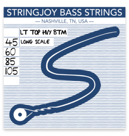 Stringjoy Stringjoy Bass Four String Nickel Alloy Light Top/Heavy Bottom 45-105