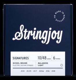 Stringjoy Stringjoy Electric Guitar Nickel Alloy, Balanced Light 10-48
