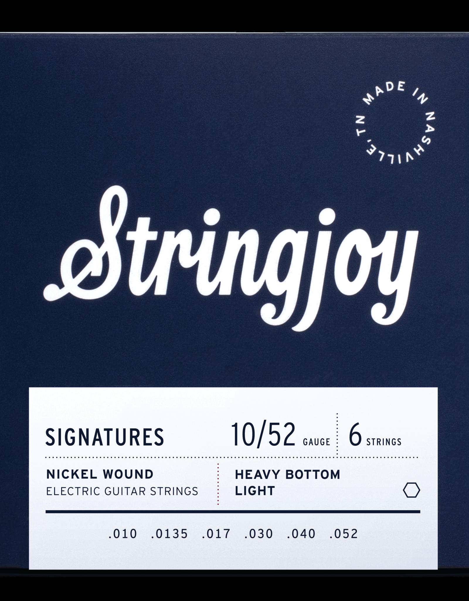 Stringjoy Stringjoy Electric Guitar Nickel Alloy, Light Top/Heavy Bottom 10-52