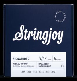 Stringjoy Stringjoy Electric Guitar Nickel Alloy Super Light 9-42