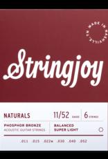 Stringjoy Stringjoy Acoustic  Natural Bronze Super Light 11-52