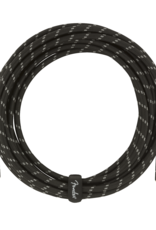 Fender Fender Deluxe Series Instrument Cable, Straight/Straight, 18.6', Black Tweed