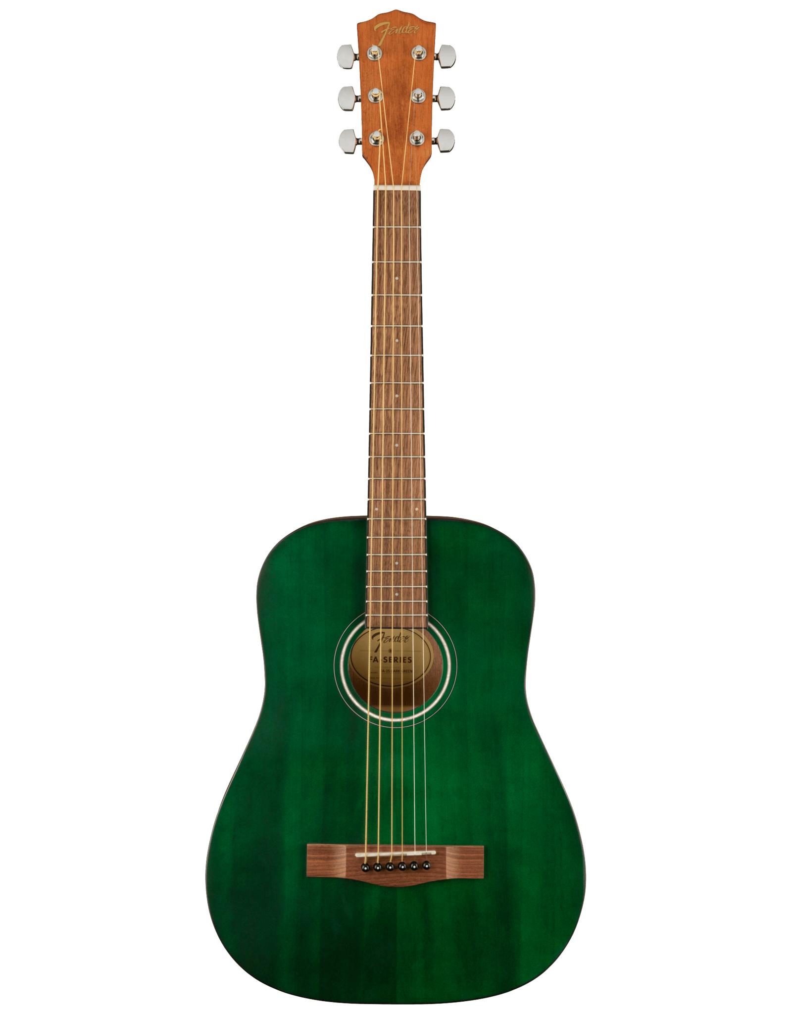 Fender Fender FA-15 3/4 Scale Acoustic Guitar, Green w/gig bag