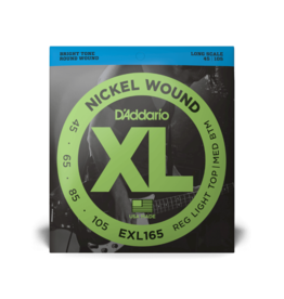 D'Addario D'Addario Nickel Wound 45-105 Custom Light, Long Scale, XL Nickel