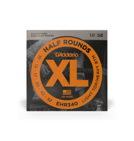 D'Addario D'Addario 10-52 Light Top/Heavy Bottom, XL Half Rounds