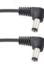 Voodoo Lab Pedal Power Cable 2.1mm Right-Angle on Both Ends-18 inch