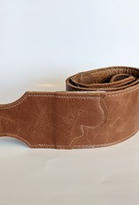 "Franklin Straps Franklin 3"" Jackson Hole ""Aged"" Leather/Contrast Stitching, Cognac"