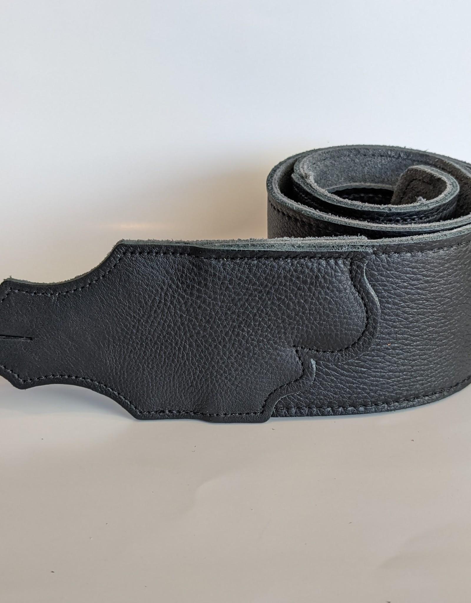 Franklin Straps Black Glove Leather/Black Stitching 3 inch