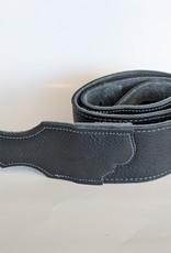 "Franklin Straps Franklin 2.5"" Black Glove Leather/Silver Stitching"