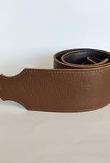 "Franklin Straps Franklin 3"" Purist Glove Leather Bass Strap/Buck/Caramel"