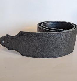 "Franklin Straps Franklin 3"" Purist Glove Leather Bass Strap/Buck/Black w/Black Stitching"