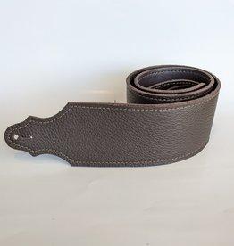 "Franklin Straps Franklin 3"" Purist Glove Leather Bass Strap/Buck/Chocolate"