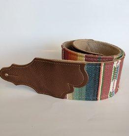 """Franklin Straps Franklin 3"""" Saddle Blanket Cinch Caramel Leather End Tab"""