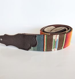 """Franklin Straps Franklin 2"""" Saddle Blanket Chocolate Cotton Backing/Chocolate Leather End Tab"""