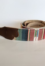 """Franklin Straps Franklin 2"""" Saddle Blanket Nat. Cotton Backing/Carmel Leather End Tab"""