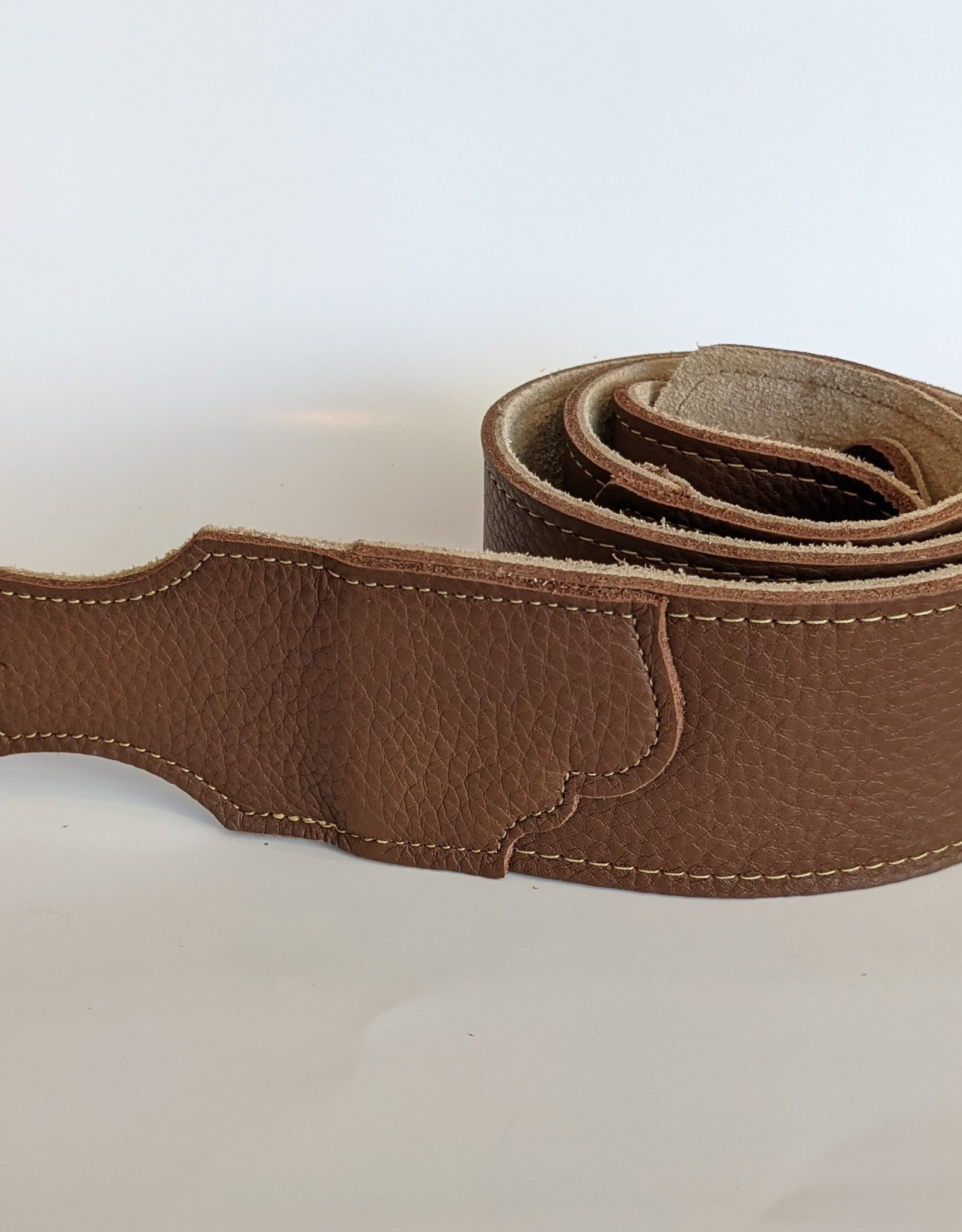 "Franklin Straps Franklin 2.5"" Caramel Leather/Gold Stitching"
