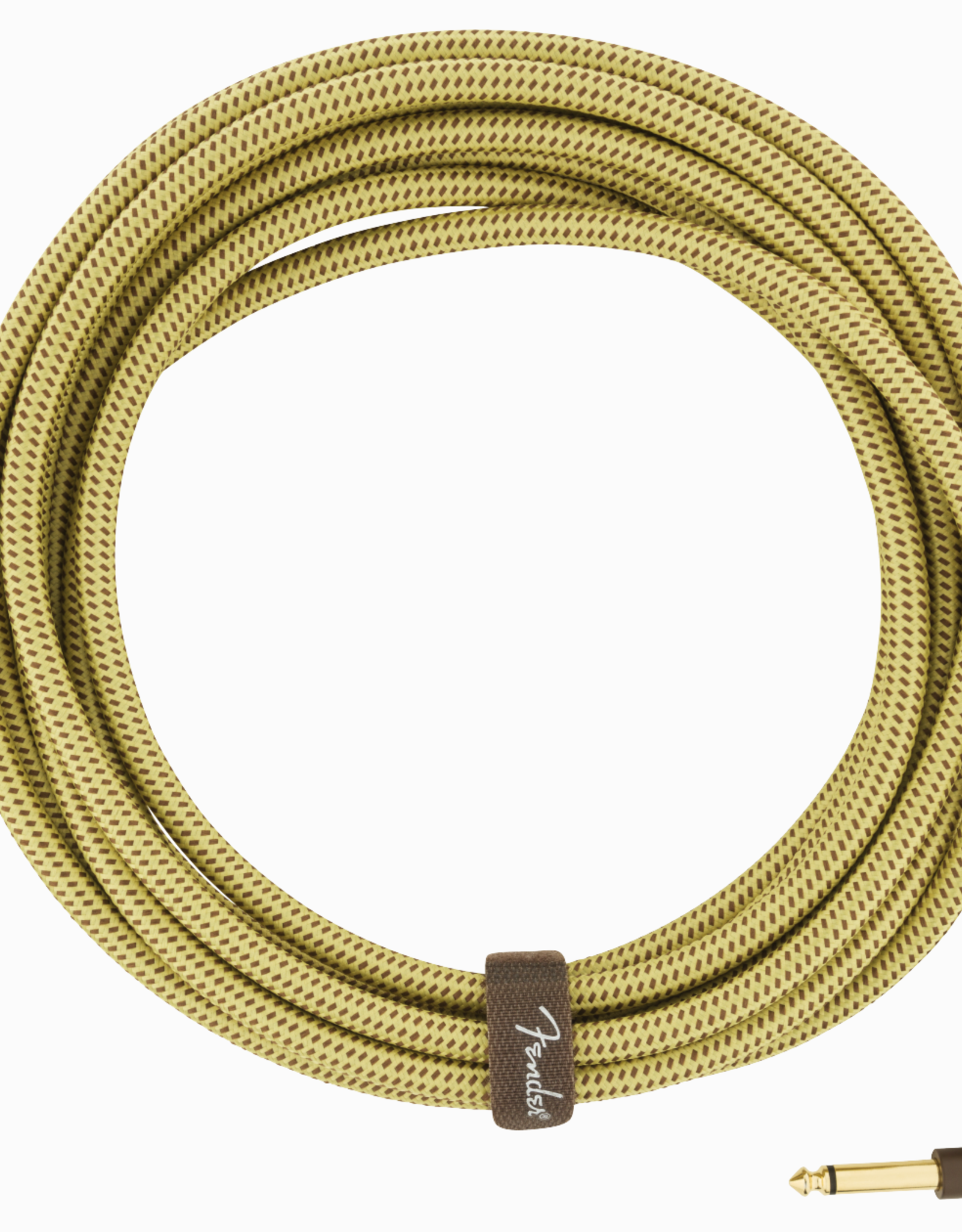 Fender Fender 18.6' Deluxe Series Cable, Tweed w/right angle