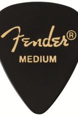 Fender Fender 351 Picks, Medium, Black, 12 Count