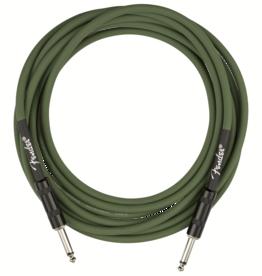 Fender Fender Strummer Pro 13' Instrument Cable, Drab Green
