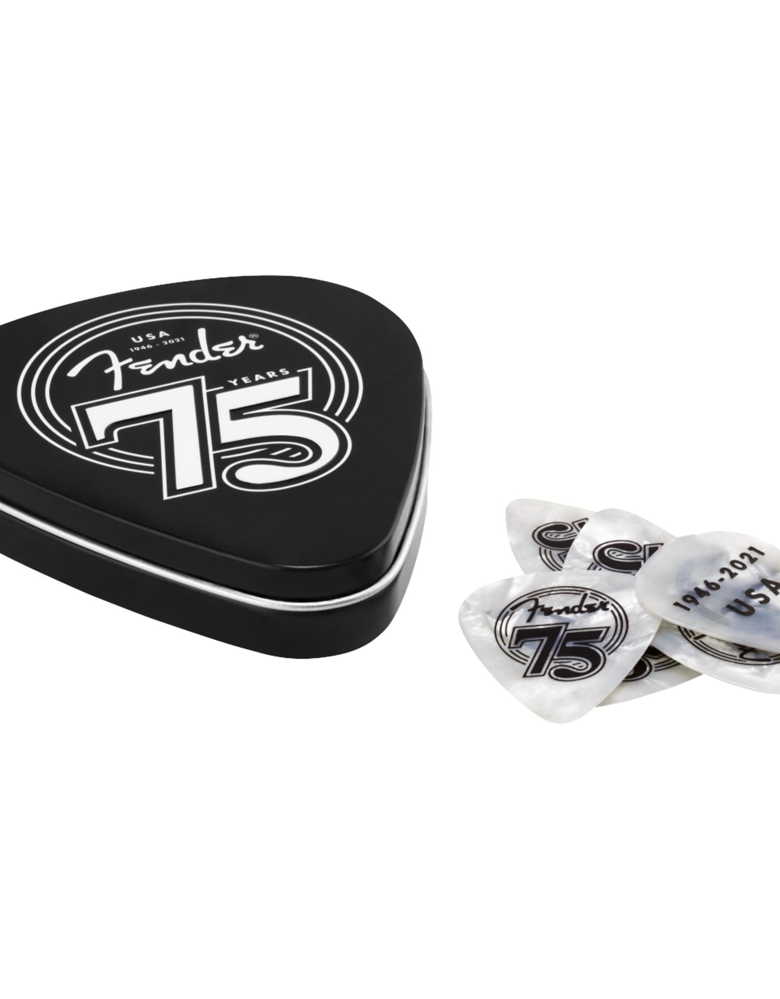 Fender Fender 75th Anniversary Pick Tin, 18 Count