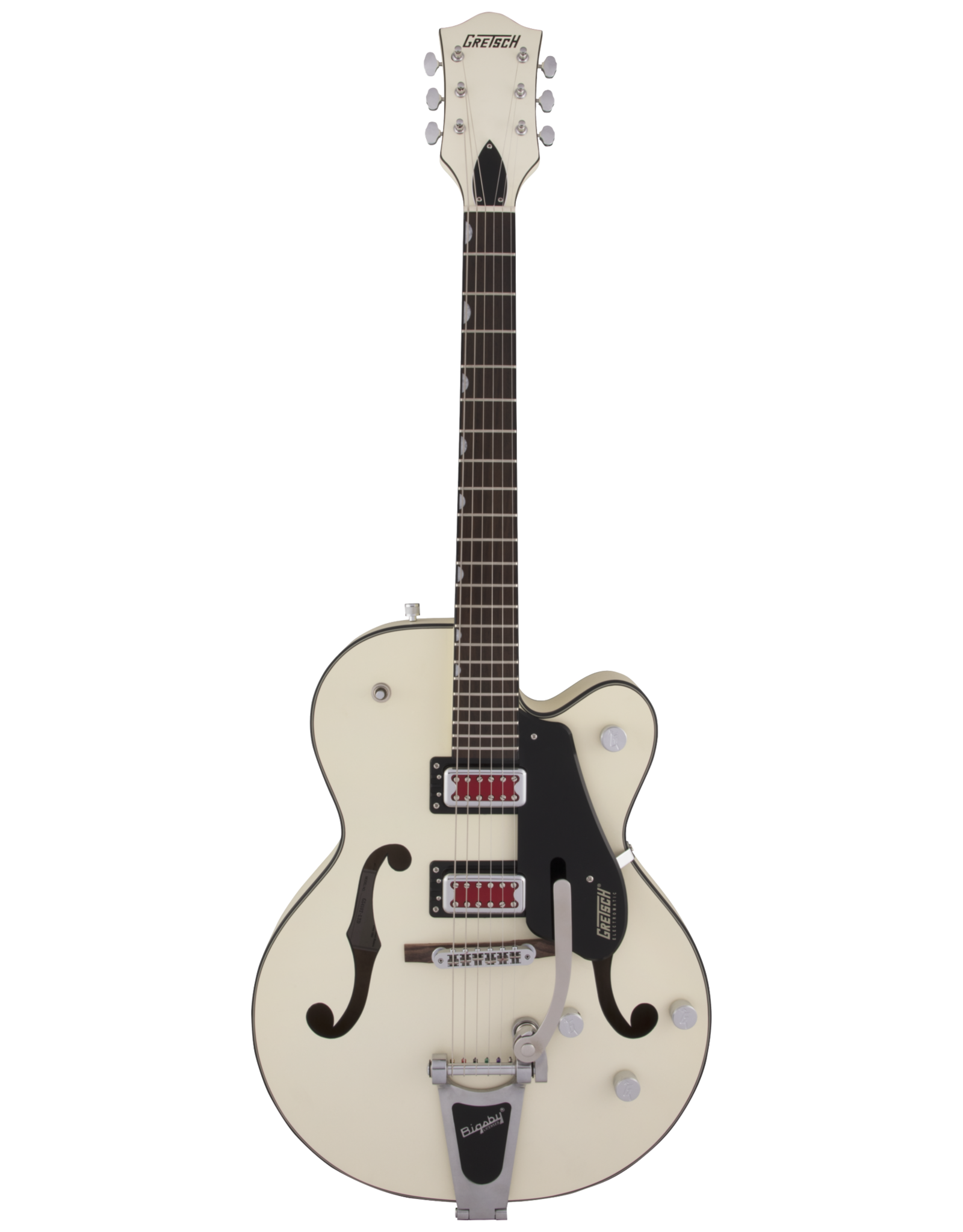 """Gretsch Gretsch G5410T Electromatic """"Rat Rod"""" Hollow Body Single-Cut with Bigsby, Matte Vintage White"""